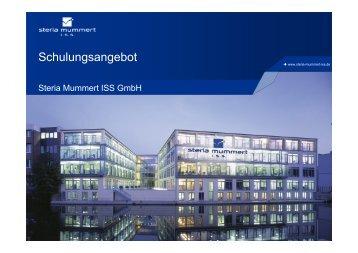 (Microsoft PowerPoint - ISS-Schulungsangebot.pptm ... - Steria