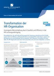 Transformation der HR-Organisation (PDF) - Steria
