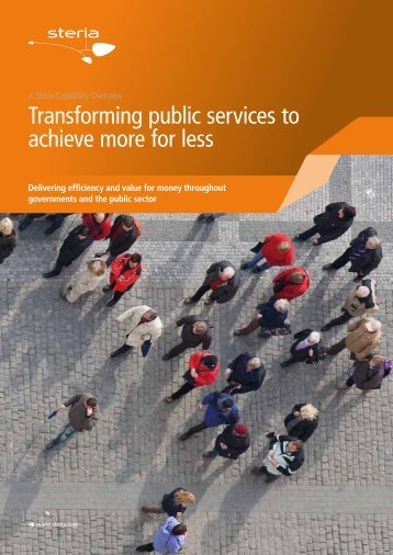 Transforming public services to achieve more for less - Steria