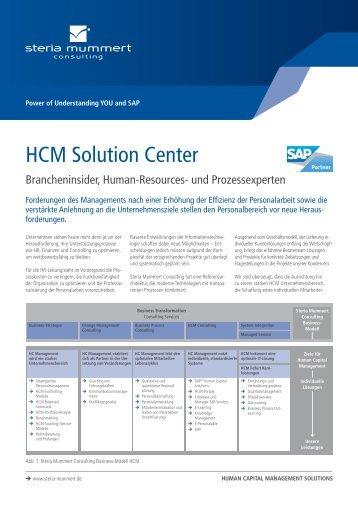 HCM Solution Center (PDF) - INSIGHT - Steria Mummert Consulting