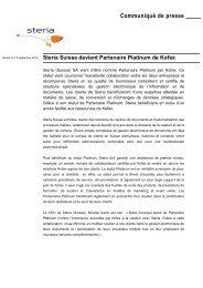 Steria Suisse devient Partenaire Platinum de Kofax