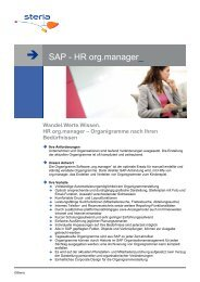 SAP - HR org.manager - Steria