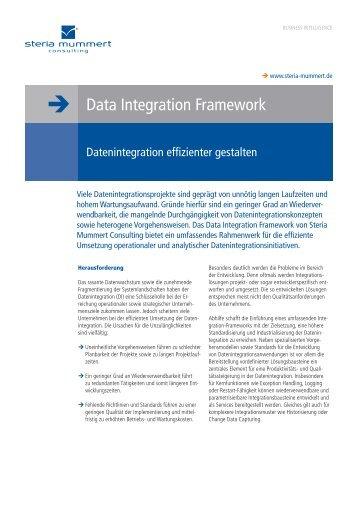 Data Integration Framework - Datenintegration effizienter ... - Steria