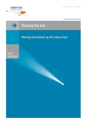 Raising the bar - Steria