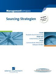 Managementkompass Sourcing-Strategien - Steria
