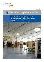 Brochure Enseignement Supérieur - Recherche - Steria
