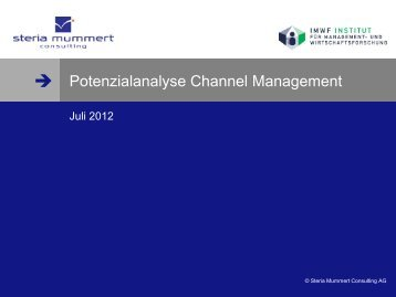 Channel Management - Steria