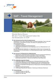 SAP - Travel Management - Steria