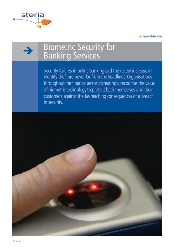 Biometric security for banking services - Steria