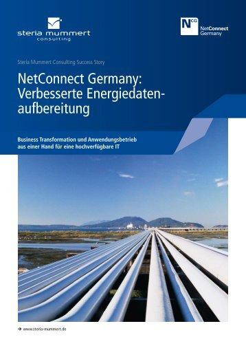NetConnect Germany: Verbesserte Energiedaten aufbereitung - Steria