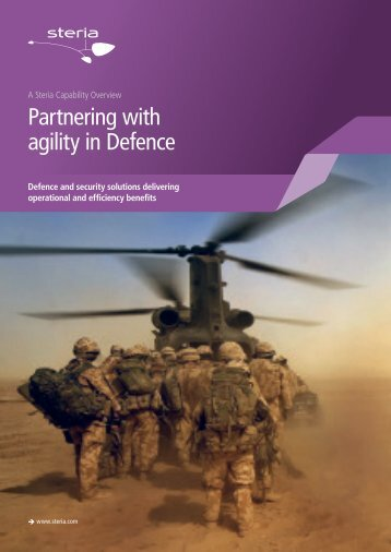 Partnering with agility in Defence - Steria