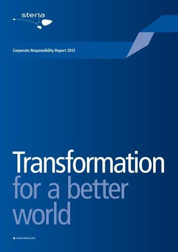 CR Report 2012 - Steria