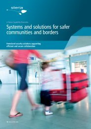 Systems and solutions for safer communities and borders - Steria
