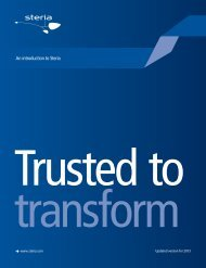 Corporate brochure 2013 - Trusted to transform - Steria