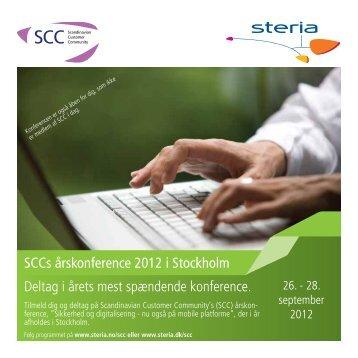 Deltag i årets mest spændende konference. SCCs ... - Steria