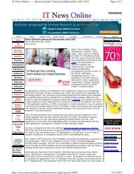 Page 1 of 3 IT News Online > - - Steria Extends Commercial ...