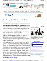 Page 1 of 4 Steria becomes first IT Services organisation in India to ...