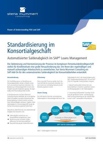 Standardisierung im Konsortialgeschäft (PDF) - Steria