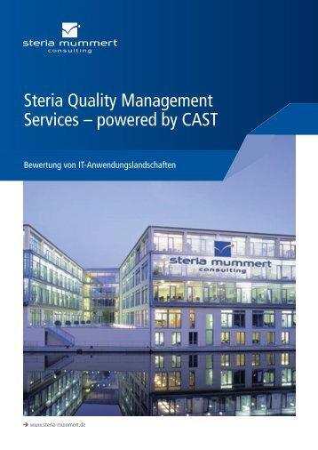 Steria Quality Management Services – powered by CAST