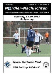 Zeitung vom 13.10.2013 - Spvgg Sterkrade Nord