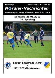 Zeitung vom 26.05.2013 - Spvgg Sterkrade Nord