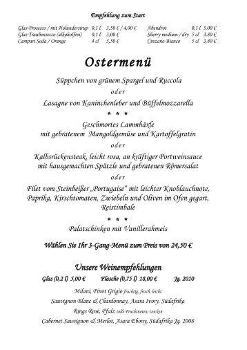 Ostermenü - Stern Albershausen