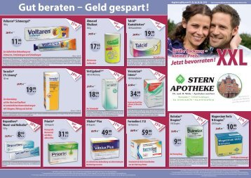 Grosspackungen XXL ab Mai 2013 - Stern Apotheke Dr. Welte