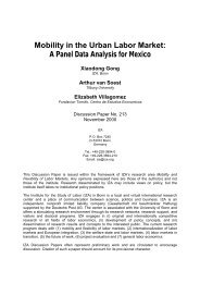 Mobility in the Urban Labor Market - NYU Stern School of Business