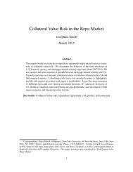 Collateral Value Risk in the Repo Market - NYU Stern School of ...