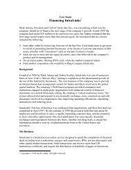 Financing IntraLinks - NYU Stern School of Business