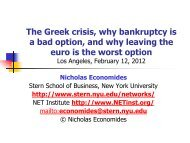 The Greek crisis, why bankruptcy is a bad option, and why leaving ...