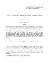Network Externalities, Complementarities, and Invitations to Enter