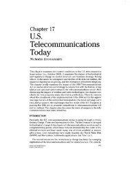 U.S. Telecommunications Today - NYU Stern School of Business