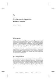 The Econometric Approach to Efficiency Analysis - NYU Stern ...