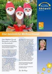 Kinder-Hospiz Sternenbrücke aktuell – Dezember 2013