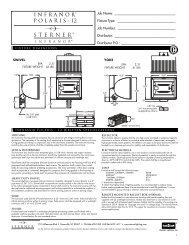Polaris-12 Spec Sheet - Sterner Lighting