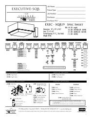 Executive SQR19 Spec Page - Sterner Lighting