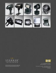 Infranor Floodlight Brochure - Sterner Lighting