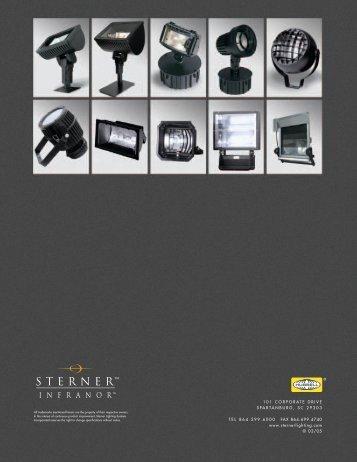 Infranor Floodlight Brochure - Sterner Lighting