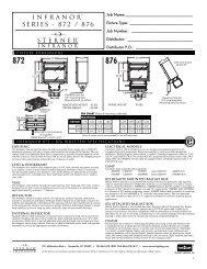 876 Spec Sheet - Sterner Lighting