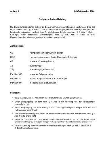 fallpauschalen katalog 2012 zum