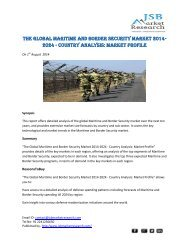 JSB Market Research - The Global Maritime and Border Security Market 2014-2024
