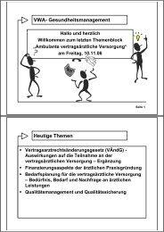 VWA- Gesundheitsmanagement Heutige Themen - Sternfeld.de