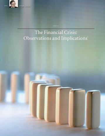 The Financial Crisis - Sternstewartinstitute.com