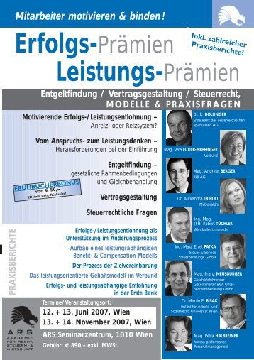 Erfolgs-Prämien Leistungs-Prämien - Steuer & Service