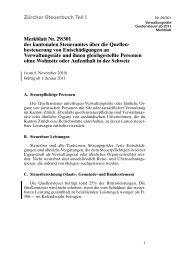 Zürcher Steuerbuch Teil I Merkblatt Nr. 29/301 des ... - Stadt Zürich