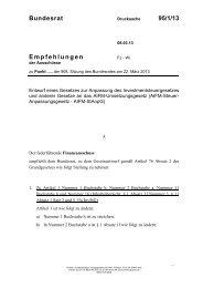 Bundesrat 95/1/13 Empfehlungen - Umwelt-online