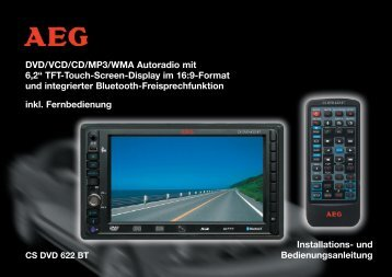 "DVD/VCD/CD/MP3/WMA Autoradio mit 6,2"" TFT-Touch-Screen - ELV"