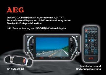 "DVD/VCD/CD/MP3/WMA Autoradio mit 4,7"" TFT- Touch-Screen - ELV"