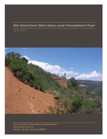 Red Mountain Open Space Land Stewardship Plan - City of Manitou ...